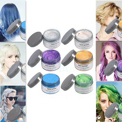 6Color Unisex Disposable Pomades Hairstyle Styling Modeling Hair Coloring Wax OB