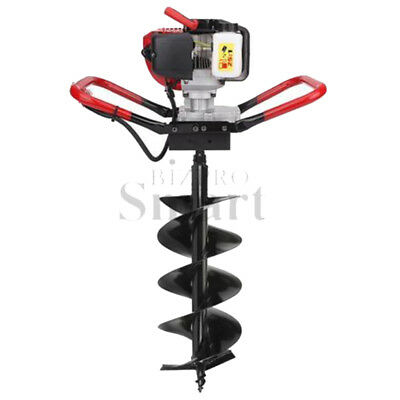 """52CC 2.3HP Gasoline Powered One Man Post Hole Digger 10"""" Auger Drill Bits"""