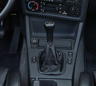 Genuine Leather Gear Shift Boot Gaiter Cover Sleeve fit BMW 3 E30 1981-1994