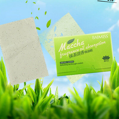 80 Sheets Oil Absorbing Blotting Face Clean Paper Green Tea Scent Makeup hot new
