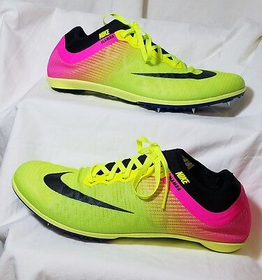 *NEW* NIKE MAMBA 3 RIO Mens Neon Green Pink Track Cleats Size 10