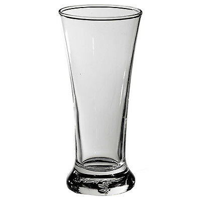 24 x 285ml Pilsner Beer Glass Commercial Grade Weight & Measures Approved