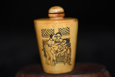 Chinese master hand painted elegant art snuff bottle A405