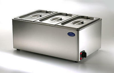 Electric Bain Marie - Wet & Dry Heat 1/1 GN - Ceonline OLGBM2 - With Pans