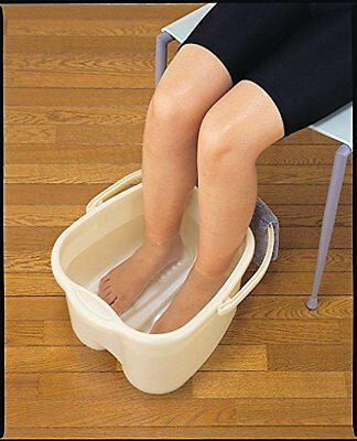 Foot Detox Massage Spa Bucket Relaxing Extra Soak Deep Tub Sturdy Handle White