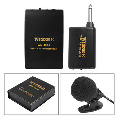 Professional Wireless Lavalier Lapel Tie Microphone System Mic Transmitter TH641