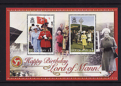 2006 Isle of Man, Royal Birthday, Queen Elizabeth II, NH Mint Sheet , SG ms1294