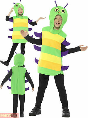 Kids Caterpillar Costume Boys Girls Very Hungry Book Week Bug Ball Fancy Dress