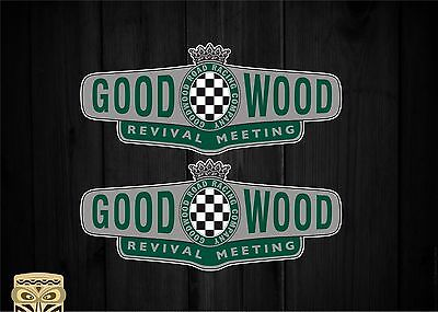 Pegatina Decal Sticker Autocollant Aufkleber Goodwood Revival Uk Racer Retro