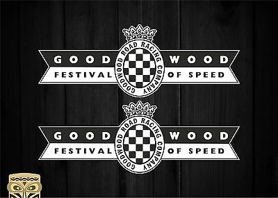 Pegatina Decal Sticker Aufkleber Goodwood Revival Uk Festival Speed X2 Laminated