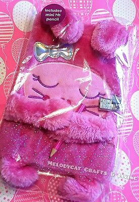 SMIGGLE CUTE, FURRY, A5 Lockable Diary Journal, Notebook, Pink Rabbit