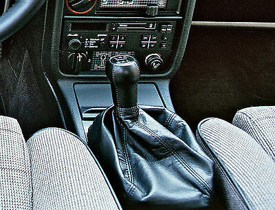 Genuine Leather Gear Shift Boot Gaiter Cover Sleeve fit Audi 100 C3 1982-1991