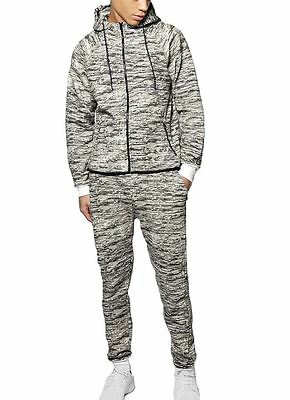 Mens Camouflage Speckled Sports Tracksuit Set Tracksuit pants & Hoodie