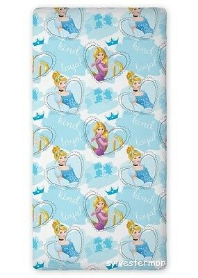 Disney PRINCESS 03 SINGLE FITTED SHEET 90cm x 200cm 100% COTTON