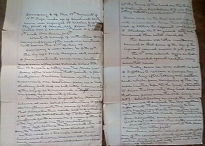 First Person Account of the Civil War History of 55th NC Confederate Regiment
