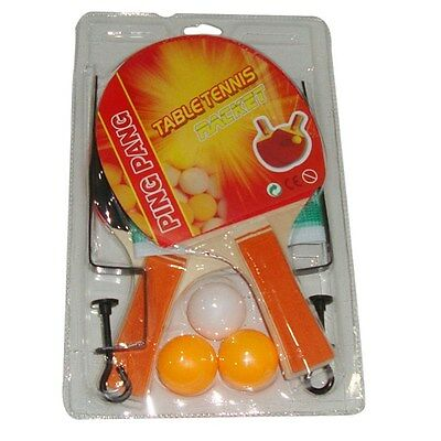 Table Tennis set which includes 2 rackets, 3 balls and a net