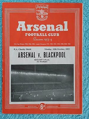 1953 - CHARITY SHIELD PROGRAMME - ARSENAL v BLACKPOOL