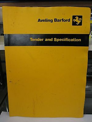 Aveling Barford RD040 and DC Series Road Rollers Brochures