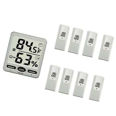 Weather WS-07 Big Digit 8-Channel Wireless Thermo-Hygrometer+8 Remote Sensor