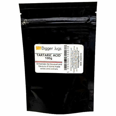 Tartaric Acid 100g Pouch Top Quality Food Grade Home Brew Wine Making & Cordials