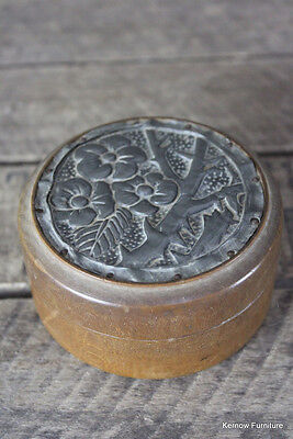 Vintage Wooden Metal Trinket Box