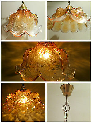 Lámpara antigua techo en cristal Murano 50's ceiling blown glass lamp vintage