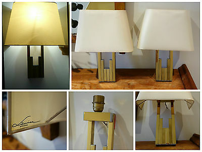 Pareja apliques lámparas vintage LUMICA Willy Rizzo sconces wall lamps pair