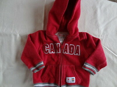 HBC Canada Hoodie sz. Babies 6-12 months Full Zip - Oh Canada