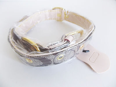New collar COACH khaki camel large size dog - collier grand chien neuf