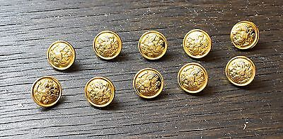 10 PCs 14 mm MILITARY RUSSIAN OFFICIAL UNIFORM BUTTONS IMPERIAL EAGLE