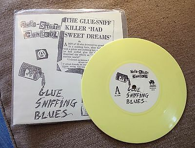 "ANTI STATE CONTROL glue sniffing blues 7"" KBD RARE PUNK  YELLOW VINYL RE 1983"