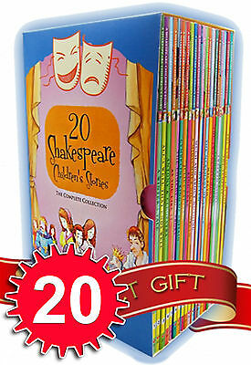 Shakespeare Childrens Stories 20 Books Collection Pack Set School Reading Age 7+