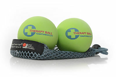 Yoga Tune Up Massage Therapy Ball original x 2 in mesh tote NEW trigger point