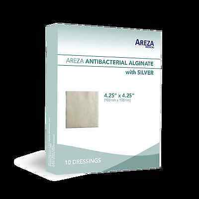 "Silver Alginate (Calcium Alg. with Ag) 4.25""x4.25"" Box of 10 (5% Off>20 Boxes)"