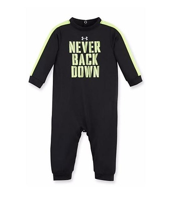 Under Armour Never Back Down Coverall, 27B90016-01 Black Sizes 0/3 - 9/12