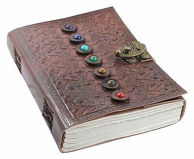 Creoly Gem Stone Leather Embossed Journal w/ Latch (15cm x 21cm)