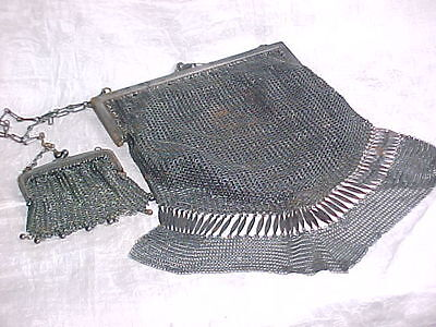 Vintage 1920's Steel Chainmail Evening Bag & Coin Purse.