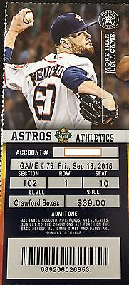 2015 Astros ticket Stub - Game Date of your Choice - Please message me for dates