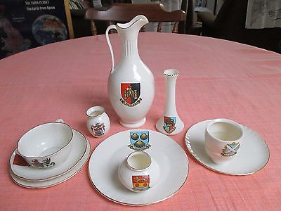 Small collection of W.H.Goss Crested China