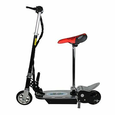 Electric 120W Scooter For Kids - Metal Deck Folding With Seat - Black