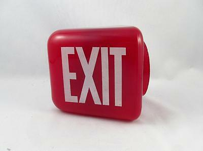 Vintage Industrial Theater Ruby Red Exit Shade Sign Wall Mount