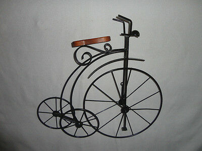 Home Interiors  Large Wood & Black Metal '' BIKE '' Wall Accent 20'' x21.5''