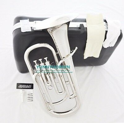 Silver Nickel JinBao Baritone Horn Durable quality New W/ Mouthpiece Case