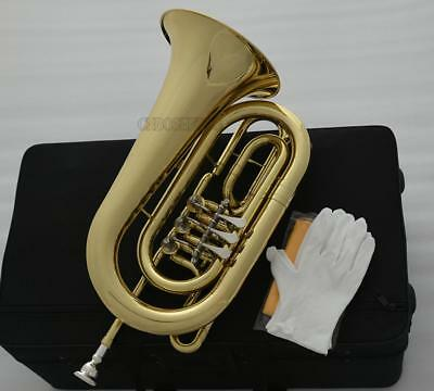 Professional Rose Brass Bb Euphonium 4 Rotary Valves Horn in Stock Free Shipping