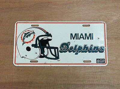 Vintage Miami Dolphins NFL American Football Metal American Licence Plate