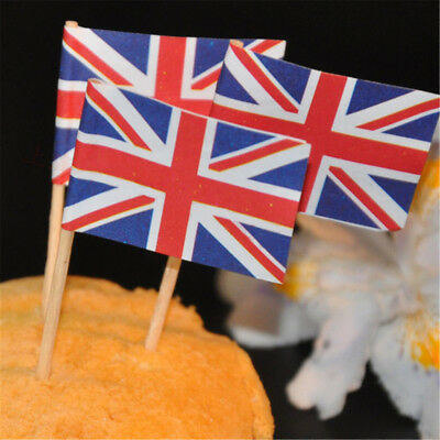 50x National Flag Picks Paper Toothpick Food Cupcake Cocktail Party Decoration