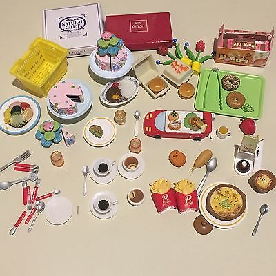 Rement Food Lot Miniature Dollhouse 1:6 Family Restaurant Youth Day Cake Dessert