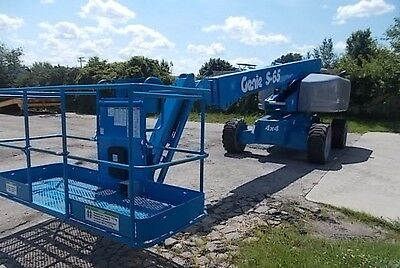 2008 Genie S65 Diesel 4WD onboard gen low hours new paint excellent condition