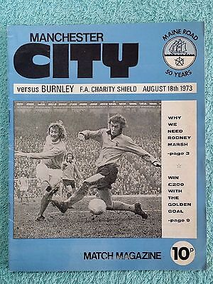 1973 - CHARITY SHIELD PROGRAMME - MANCHESTER CITY v BURNLEY