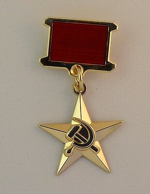 The Order of Gold Star Medal of Hero Socialist Labour USSR  + case. Copy.
